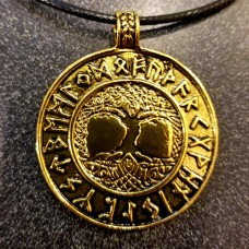 Yggdrasil gold necklace