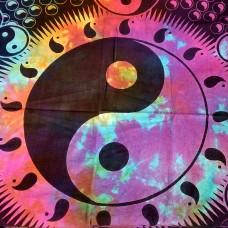 Yin Yang tapestry multi color